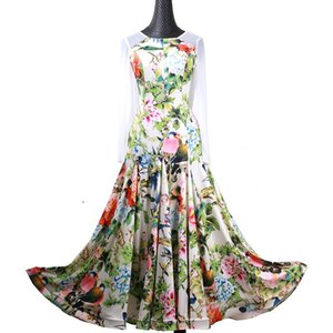 Print ballroom dress for ballroom dancing waltz dress for dancing clothes modern dance costumes Spanish fringe long