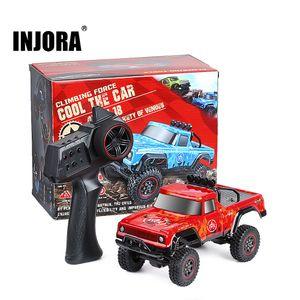 Injora 2.4g 1:18 Maßstab RTR RC Rock Crawler Auto abseits der Straße Klettern RC Fahrzeug Truck Fernbedienung Pickup RC Auto Spielzeug