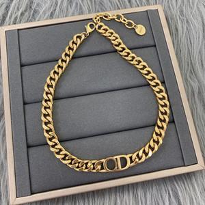 collana di spessore lettera CD placcato oro adatto per gli uomini nuova collana di gioielli di marca / delle donne