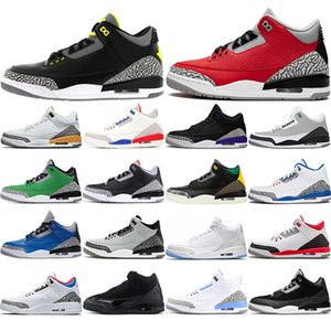 with free socks new arrival Jumpman 3 UNC 3s mens women basketball shoes Fragment Knicks Rivals Satin Chicago Trainers Sneakers EUR 40-47