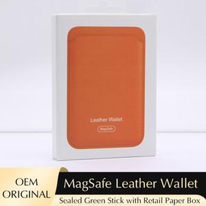 OEM Original MagSafe Leather Wallet for iPhone 12 Card Slot Credit Card Holder Wallet Strong Magnetic Back Case for 12 Mini 12 Pro Pro Max
