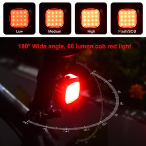 Waterproof USB rechargeable intelligent equestrian lamp warning brake rear light LED Bicycle accessories