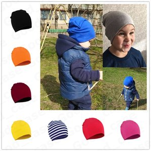 Kids Newborn Baby Winter Hat Candy Beanies Toddler Infants Warm Knitting Hats 1-3 Years Skull Caps Tuque Fashion Cute Headwear Gifts HWF2537