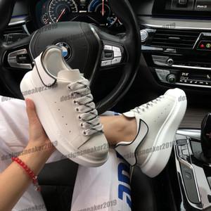 2020 Yeni Sezon Bayan Erkek Platformu Günlük Ayakkabılar Sneakers Moda Erkek Eğitmenler Beyaz Deri Ayakkabı Çıkarılabilir Arka Sneakers Chaussures