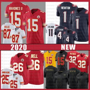 Patrick Mahomes Cam Newton Le'veon Bell Jersey Clyde Edwards-Heraire Edelman New Travis Kelce Inglaterra
