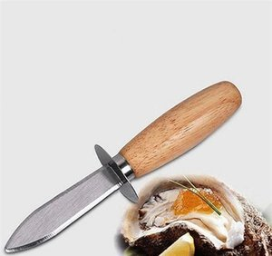 Stainless Steel Wood Handle Oyster Shucking Kitchen Seafood Sharp-edged Opener Tool Scallops Sh wmteaJ bdedome