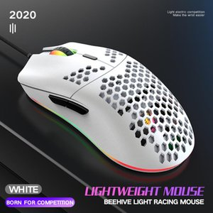 ZIYOULANG M6 RGB Wired Gaming Mouse 12000DPI Lightweight Mice Hollow-out for PC Gamer White Black DropShip Hot Sale Game Mouse