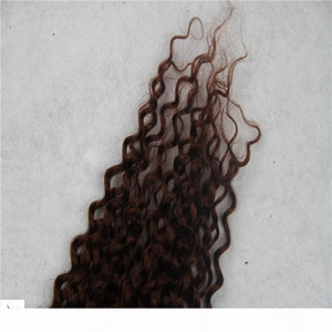 Light Brown Color Afro Kinky Curly Clip In Human Hair Extensions 100% Mongolian Remy Hair Extensions 8 Pieces And 100g Set