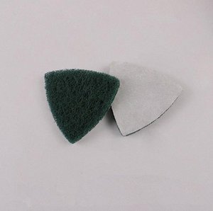 10Pcs oscillating multi saw Self-adhesive Triangle polishing Pad Flocking Scouring pad Green 80 mesh Grinding Tools VofT#