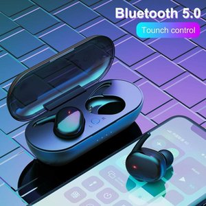 TWS Fingerprint Touch Bluetooth 5.0 Earphones Wireless Gaming 4D Stereo Handfree Portable with Charging Box1