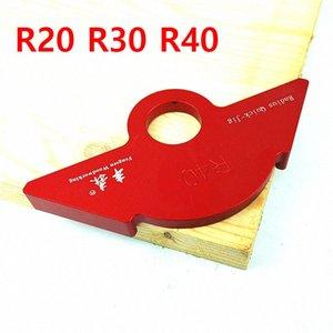 Arco ángulo R20 / 30/40 Tratamiento de la madera R Indicador de ángulo del arco de la máquina del ajuste R Plantilla de posicionamiento de la esquina de la plantilla de la Tabla Router rudv #
