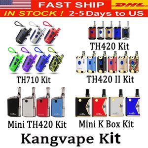 Оригинал 100% Kangvape TH710 TH710 TH420 V1, V2, TH420 II Мини 420 К Коробка Мод комплект с 0,5 мл Керамический картридж Аутентичные катушки