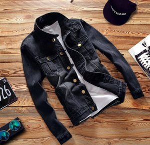 2021 Fashion Designer Men's denim jacket Clothing Men coat Black Mens Luxury Fashion street menswear Jackets increase Size S-5XL