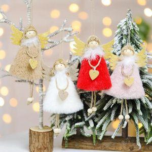 Christmas Angle Pendant Xmas Tree свисающего Украшение кукла Украшение Для дома Подвеска подарков Нового года NAVIDAD партии Supplies BWD2122