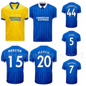 20 21 Futebol Hove Albion 7 Neal Maupay Jersey 11 Leandro Trosse 13 Pascal Bruto 18 Aaron Mooy Dunk Webster Camisa de Futebol Kits