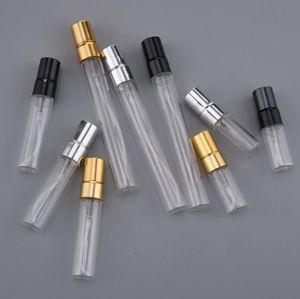 3ML 5ML 10ML فارغة المحمولة زجاج إعادة الملء زجاجة عطر مع الألومنيوم البخاخة لLX2878 المسافر