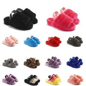 2020 men women slides winter slippers black red yellow blue warm casual women sneakers size 36-44