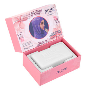 AILKE Natural acne Handmade Soap with collagen,vitamin C and rice milk bath skin Whitening Soaps