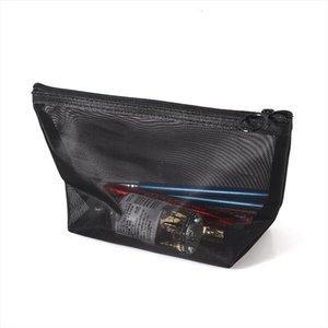 1Pcs Women Men Neceser Cosmetic Bag Black Transparent Travel Fashion Small Large Black Toiletry Makeup Organizer Bags Case Pouch