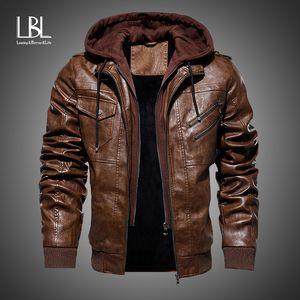 Mens Leather Jackets Winter New Casual Motorcycle PU Jacket Biker Leather Coats European Windbreaker Genuine Leather Jacket 201009