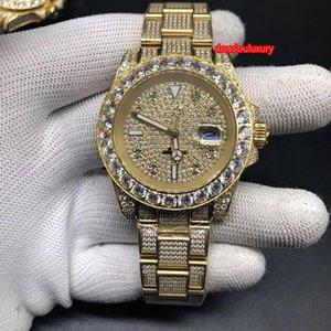 Top мужской бутик часы модных мужской моды бриллиантовой Горячие часы хип-хоп стиль рэпа полных алмазов автоматических механических часов