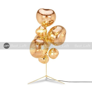 Modern Melt Metal Acrylic LED Floor Lamp Home Living Room Decor Reading Art Lighting Fixture