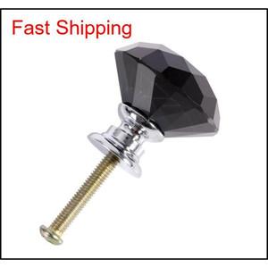 30mm diamante forma de cristal liga de vidro gaveta gaveta armário armário puxar maçanetas Dr. jlloyg aquecedor