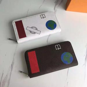 محفظة جلدية للجنسين سستة حقيبة الإناث مصمم محفظة متعددة مقصورة الأزياء حامل بطاقة الأعمال اللوجستية شحن مجاني، مجانا shippin