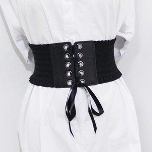 Novità Vintage Elastico Elastico Ampia Cummerbunds Stretchy Corsetto Femminile Nero Cincher cinchiera cinture per accessori da donna