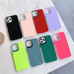 Phone Case For iPhone 12 mini 11 Pro Max XR XS X 8 Plus soft Bumper Mirrir Hard Back Cover multi color