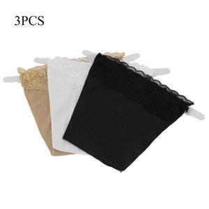 3 pc / set merletto senza giunte reggiseno rapida Easy Clip su pannelli Neck Vest Decolleté Control Set Lace 3 colori Pranzo Bra