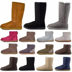 2021 Designer Classic Scarpe ugg uggs corte Bailey Bow Tall Button Treplet Australia Womens Donne Boot Winter Snow Stivali Australiani Pelliccia Pelliccia Furry Boots