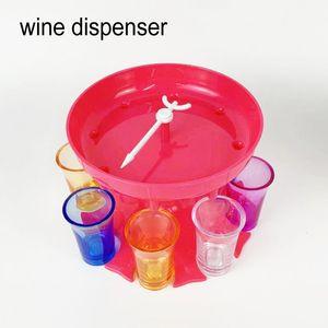 Alta calidad 8 Dispensador de vinos de vidrio de vidrio Whisky Plastic Wine Pourer Party Games Cocktail Holder Eco Wine Class Dispenser Tool
