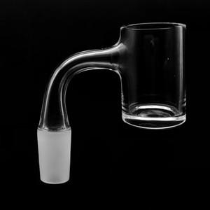 US Grade Weld Beveled Edge 4mm Bottom\Round Bottom Quartz Banger With Gravel Joint For Glass Water Bongs
