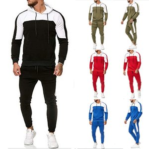 Thefound Men's Hooded Tracksuit Hoodies Casual Suits Sport Wear Sweatshirt Pants Set