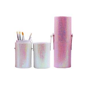 Pu pennelli di trucco Storage Box donne del rossetto portapenne Beauty Cosmetic Organizer casa Bagno Desktop caso all'ingrosso di accessori C19041201