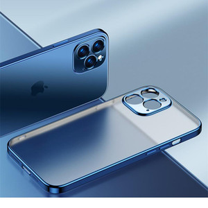 Square Plating Clear Matte Phone Case For Iphone 12 11 Pro Xs Max 12 Mini X Xr 7 8 6 jllKUP