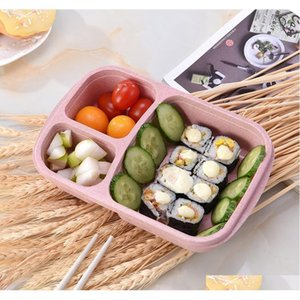Natural Rice Husk Wheat Straw Lunch Box Food Grade Pp Lunch Box School Bowls Fast Food Sepe jllyCh allguy