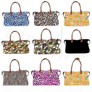 17inch plaid Floral Leopard Duffel Bag Big Travel camouflage camo Tote animal print handbag Double Handles Weekenders Bag dc301