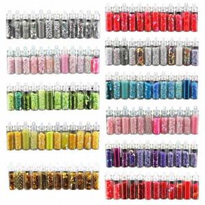 12 BottleNail Glitter Pó Acrílico Gel Polish Flakes prego Sequins DIY Handmade Colored Sequins Manicure Detalhes no laX5 #