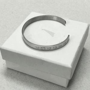 Mission MMM bracelet piste ouverture numérique des hommes de personnalité de la mode et les femmes bracelet en acier de titane