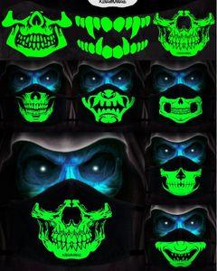 Baumwolle staubdicht pm2.5 anime cartoon schwarze mask mund frau männer nacht schein in dunkler schädel mund masken halbe muffle gesicht maske