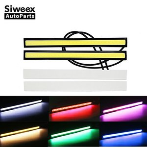 2 Pcs Car LED Strips Daytime Running lights 17cm Waterproof DRL For Auto Trucks ultra-thin Driving Fog lamp Super Bright DC 12V