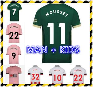 KITS ENFANTS 20 21 JERSEYS SOCCER MOUSSET United 2020 2021 McBurnie Lundstram Norwood Sharwood Sharwea Home Kit adulte Shirts de football