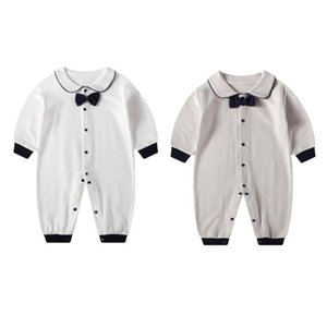 Childrens Clothing Spring and Autumn Baby Jumpsuit New Boy Baby Romper Long-Sleeved Cotton Gentleman Clothes Baby Clothes Romper