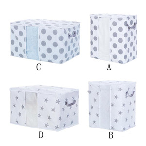 Foldable Storage Bag Clothes Blanket Quilt Closet Sweater Organizer Box Pouches New Non-woven Fabric Storage Bag#T2