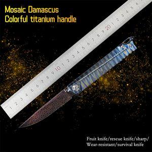 Titangriff, Damaskus-Stahl, Taschenmesser, Survival Camp Messer, Angeln KNIFBM 781 C813300 BM42Butterfly EDC