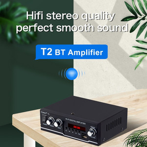 T2 Digital Audio Player BT Power Amplifier Audio 30W with USB Input FM Radio Control Subwoofer for Home and Car