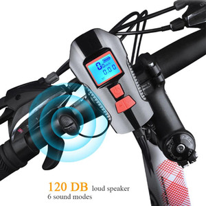 New Smart Bike Accessories Motor Handlebar Front 3 in 1 USB Rechargeable Power Display Speedometer Electric Horn Bike Light