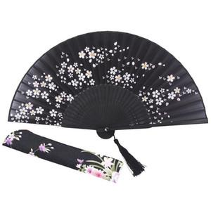 Charming Elegant Modern Woman Handmade Bamboo Silk 8.27 inch(21cm) Folding Pocket Purse Hand Fan, Collapsible Transparent Holdin